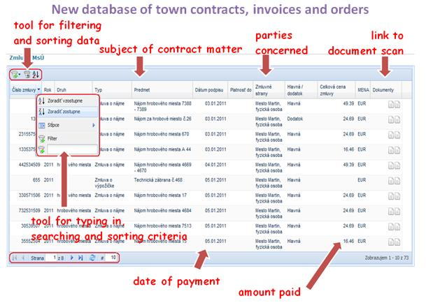 New database of town contracts, invoices and order